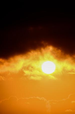 Sun Setting on the Atlantic Ocean in Tenerife Canary Island Spain photo