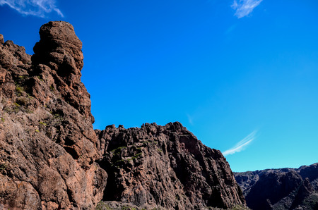 volcanic rock: Volcanic Rock Basaltic Formation in Gran Canaria Canary Islands