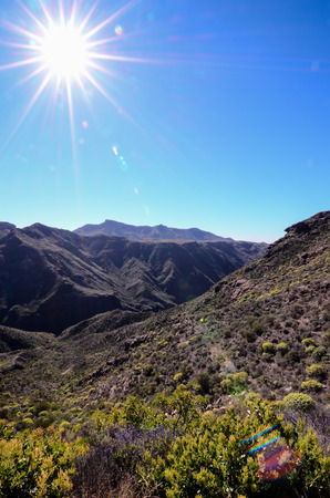 spanish landscapes: Big Valley in Gran Canaria, Canary Islands, Spain