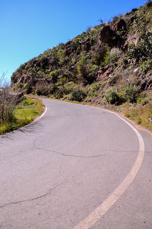 disappears: Long Dirt Desert Road disappears into the Horizon.