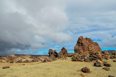Cloudy Day in El Teide National Park Tenerife Canary Islands Spain photo