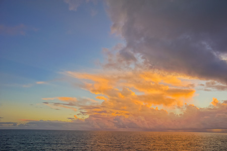 atlantic ocean: HDR Colred Sunrise Clouds over the Atlantic Ocean in Tenerife Canary Islands