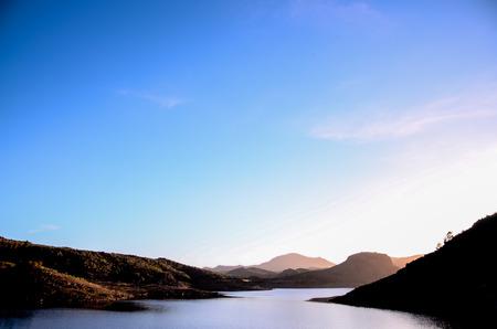 Dark Water Lake in Gran Canaria Canary Islands Spain photo