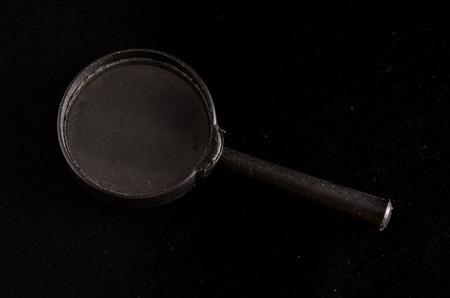 magnify glass: Vintage Magnify Glass Loupe on a Black