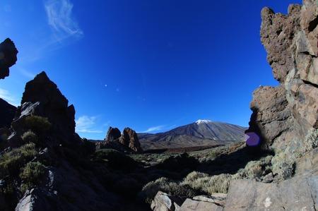 spanish landscapes: Desert Landscape in Volcan Teide National Park, Tenerife, Canary Island, Spain Stock Photo