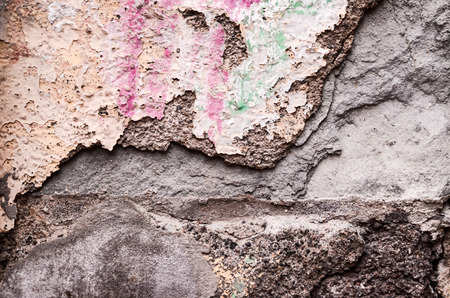 Old Weathered Peeling White Wall Background Texture photo