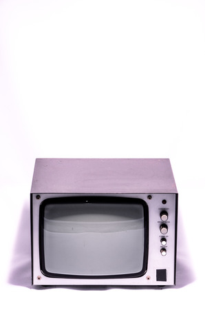 crt: Old Vintage External Gray Screen on a White Background
