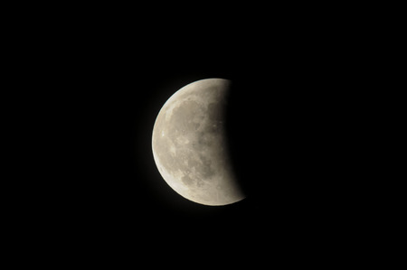 partial: Partial Eclipse of the Moon in Black Night