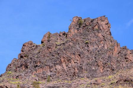 obrero: Roca volcánica basáltica Formación en Gran Canaria Islas Canarias