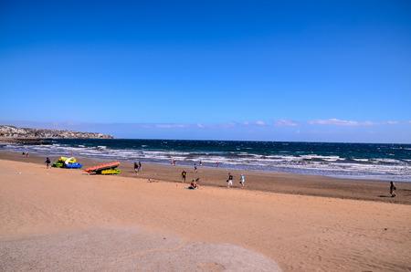 bartolome: Playa del Ingles Tropical Beach in South of Gran Canaria Canary Islands