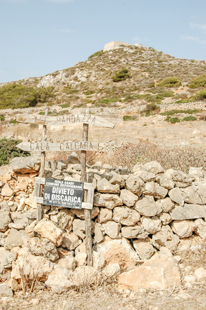 egadi: Dry Landscape Countryside in Egadi Islands Sicily Italy