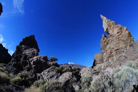canary island: Desert Landscape in Volcan Teide National Park, Tenerife, Canary Island, Spain Stock Photo