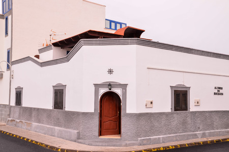 buiding: Typical Colonial Old Buiding in the Canary Islands Stock Photo