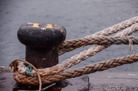 Beeld van een oude vintage Naval Touw