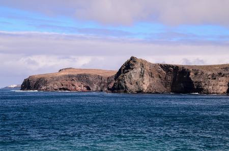 Drogen Lava Coast Beach in de Atlantische Oceaan