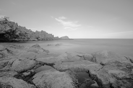 long exposure: Infrared BW Picture of the Ocean with Long Exposure