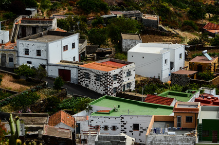 canarian: Typical Canarian Colonial House in El Hierro Canary Island
