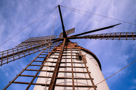 Vintage Wind Mill in Gran Canaria Canary Islands Spain photo