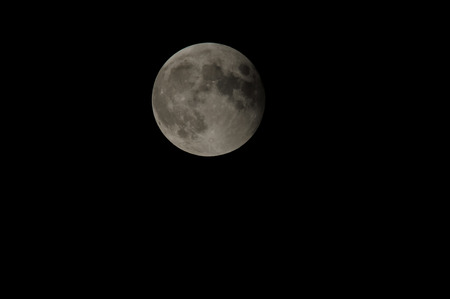 Partial Eclipse of the Moon in Black Night photo