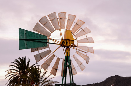 wind mill: Vintage Wind Mill in Gran Canaria Canary Islands Spain