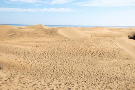 African European Sand Dune Desert Landscape in Gran Canaria Island Spain