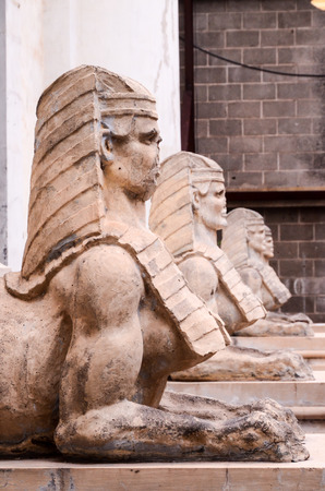 sphinx: Sphinx of the Old Masonry Temple in Tenerife Canary Islands