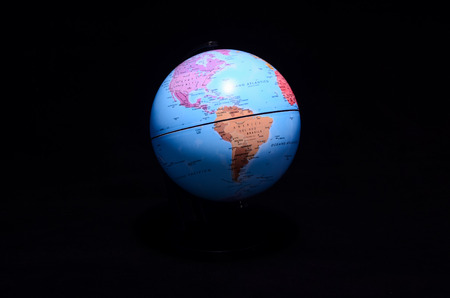 equator: Globe Planet Earth Isolated on a Black Background Stock Photo