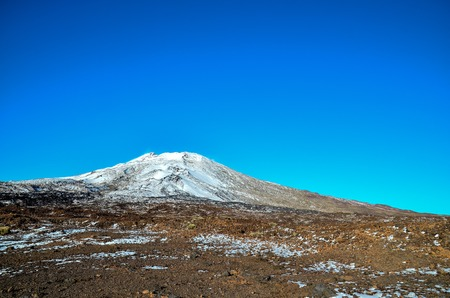 volcan: Desert Landscape in Volcan Teide National Park, Tenerife, Canary Island, Spain Stock Photo