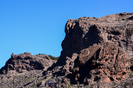 gran canaria: Volcanic Rock Basaltic Formation in Gran Canaria Canary Islands