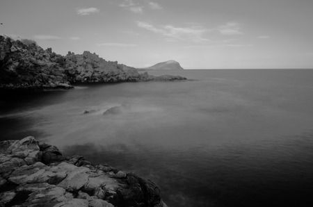 bw: Infrared BW Picture of the Ocean with Long Exposure