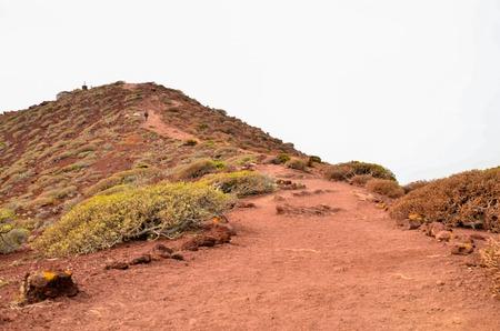 Dirt Road through the Desert in Tenerife Island Spain Banco de Imagens
