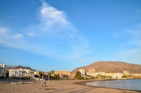 Lege tropisch strand op de Canarische Eilanden