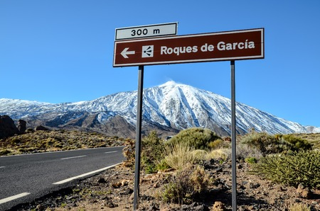 Desert Landscape in Volcan Teide National Park, Tenerife, Canary Island, Spain photo