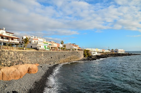 spanish landscapes: Sea Village at the Spanish Canary Islands.