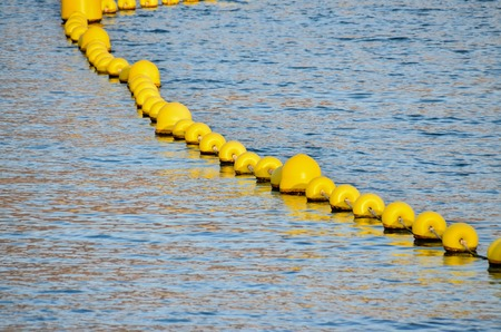 floaters: Blue Water Texture Pattern and Yellow Floaters