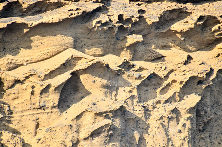 craggy: Volcanic Rock Basaltic Formation in Canary Islands