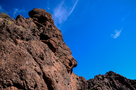 labourer: Volcanic Rock Basaltic Formation in Gran Canaria Canary Islands