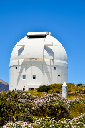 observatory: Telescopes of the Teide Astronomical Observatory in Tenerife, Spain.