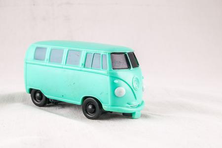 Vintage Old Classic Style Hippie Bus Van photo
