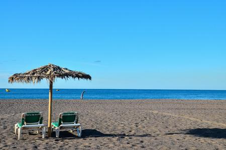 beach umbrella: Beach Umbrella in Tenerife Canary Islands Spain Europe