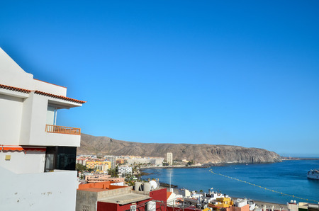 canary islands: Tropical Beach in Los Cristianos Canary Islands