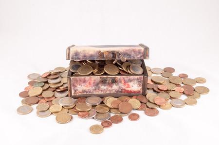 money concept: Picture of a Business Money Concept Idea Coins Treasure