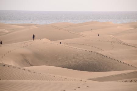 Sand Dune-woestijn in Maspalomas Gran Canaria Spanje Stockfoto