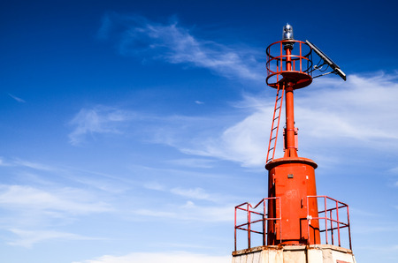 navigation aid: The Red Steel Lighthouse near Sottomarina Venice