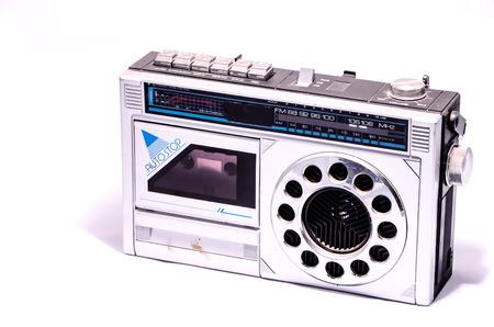 shortwave: Old Retro Vintage 70s Radio on a White