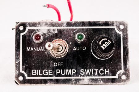 Old Vinatge Used Black Grunge Switch Interruptor