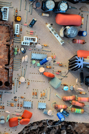 Picture of an Old Vintage Mother Board photo