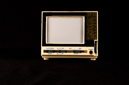 Classic Vintage Retro Style Old Plastic Televison photo