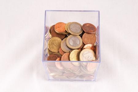 money concept: Picture of a Business Money Concept Idea Coins Container