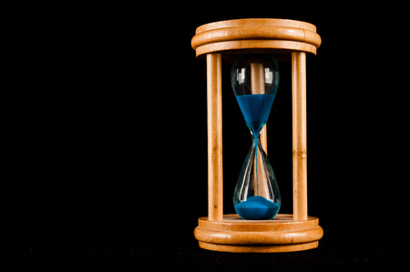 sand glass: Classic Style Vintage Old Hourglass Sandglass Clock Stock Photo